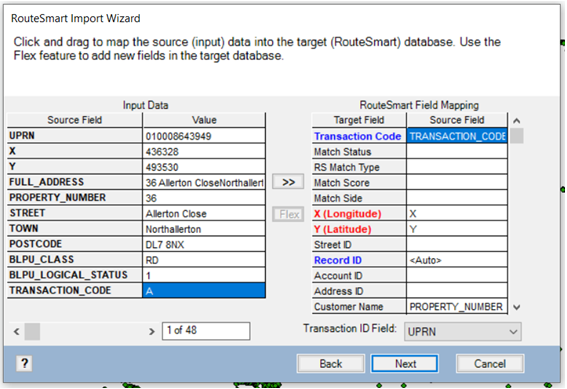 RouteSmart Import Wizard Integrated Skills